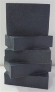charcoal bar soap stack