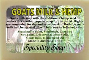 goats milk hemp soap