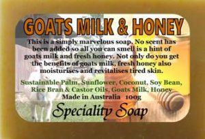 goats milk honey soap