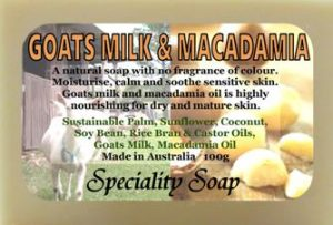 goats milk macadamia soap