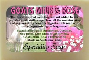 goats milk rose soap