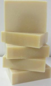 goats milk rose soap stack