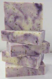 Lavender Flower Soap Stack