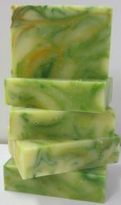 Lemon Myrtle Soap Stack