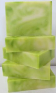 Lime and May Chang Soap Stack