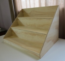 timber display stand