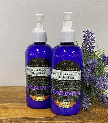 lavender goats milk body wash
