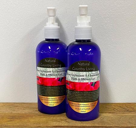 rose geranium bath shower gel