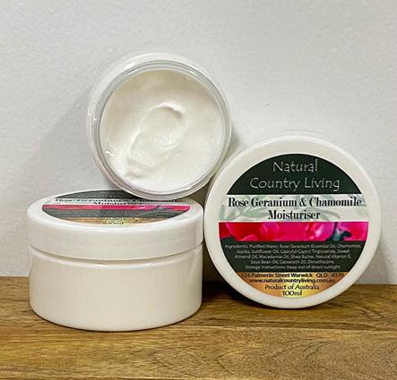 rose geranium chamomile moisturiser